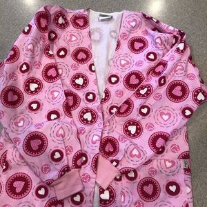 Small Tafford Scrub jacket long sleeves hearts